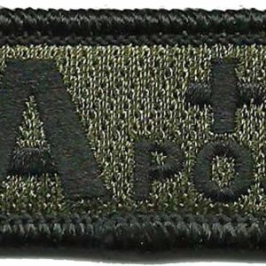 Blood Type Apos Patch Olive Drab